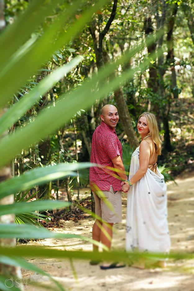 This is Eric Martinez and his girlfriend Cammy Cuoco. The San Antonio, Texas-based couple were on vacation in Riviera Maya, Mexico, when Martinez surprised Cuoco with the most epic proposal.