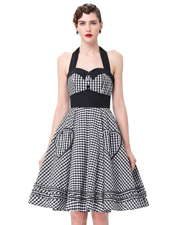 A Retro Gingham Dress For Your Next 50s Themed Bop