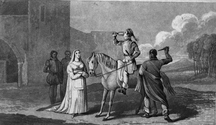 Esta tradição foi iniciada com os casamentos arranjados, quando acreditava-se que, se a noiva e o noivo se vissem antes do grande dia, teriam tempo suficiente para cancelar o casamento.