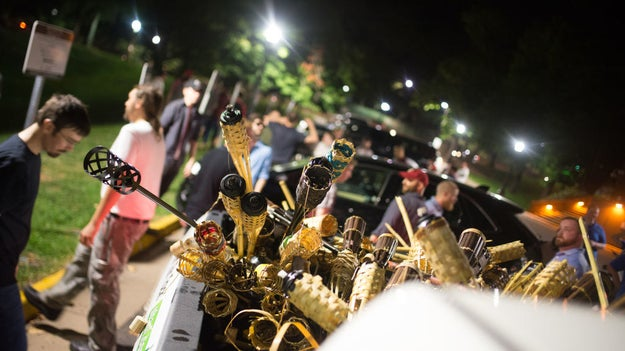 As shocking as the protest was to many people, many online were quick to mock the white nationalists for marching using tiki torches.