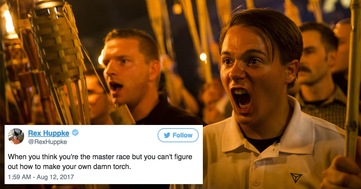 People Are Mocking White Nationalists For Marching With Literal Tiki Torches