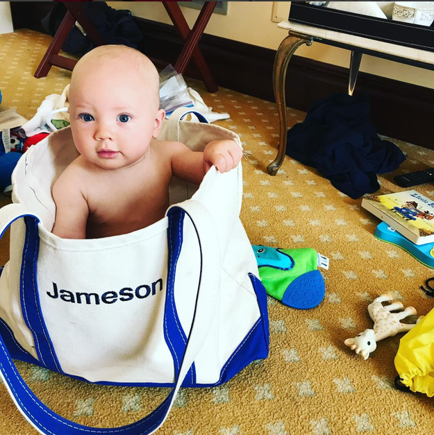 In other painfully adorable moments from P!nk's grid, her son Jameson has the roundest Charlie Brown head I've ever seen, and I say that in the absolute best way possible.