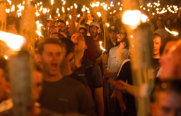 Saturday's events came after hundreds of white supremacists held a torchlit rally at the University of Virginia and chanted Nazi-linked slogans on Friday night.
