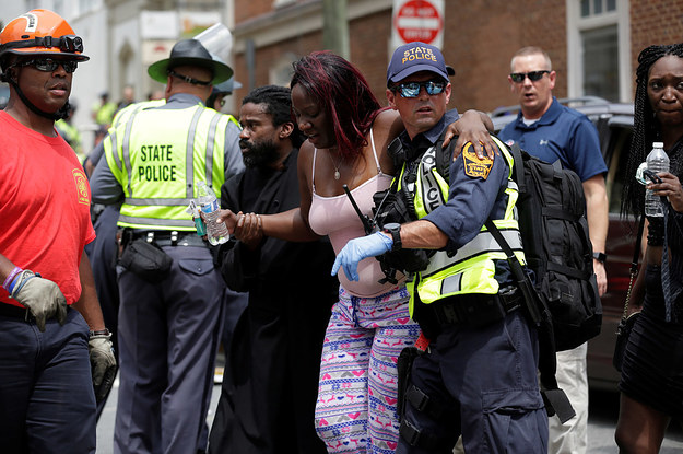 """Witnesses Describe The Moment A Car Drove Into Protesters, """"Flinging People Out Of The Way"""""""