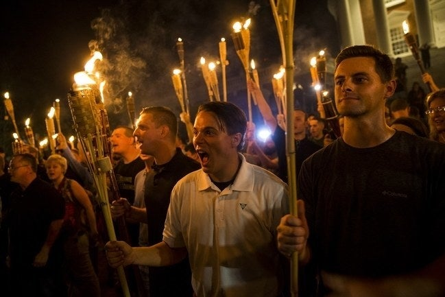 The images out of Charlottesville, Virginia, are unsettling — but also pathetic, also exasperating — for their boring timelessness.