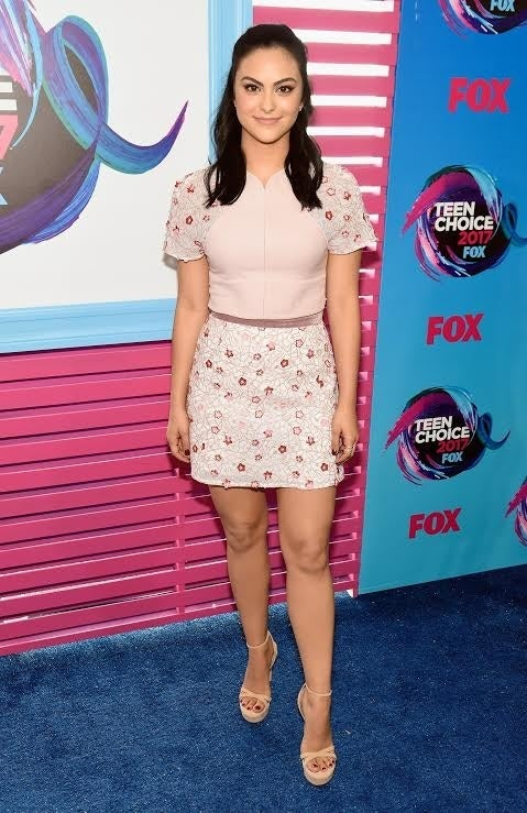 Camila Mendes (Veronica) looked pretty in pink...