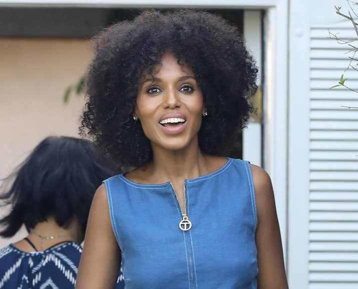 Kerry washington ditched the weave and her real hair is actually heres a close up because you really need to appreciate the glorious range of curls and coils happening here pmusecretfo Choice Image