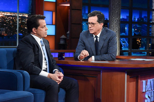 Scaramucci Tells Stephen Colbert That Steve Bannon Has To Go