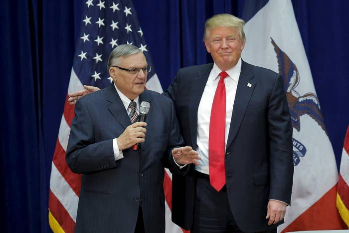 Trump and Arpaio in January 2016.