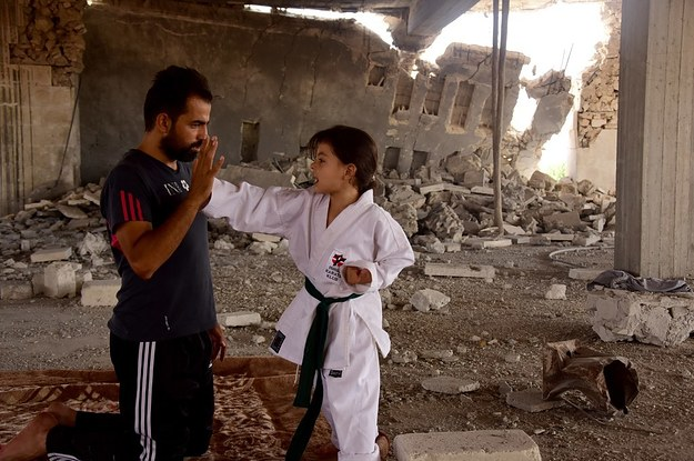 This Syrian Girl Has Been Training In Karate Amid Aleppo's Ruins