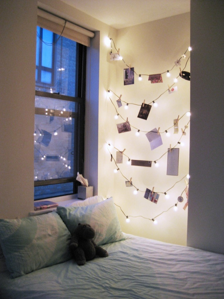 Decorate Room With String Lights  from img.buzzfeed.com
