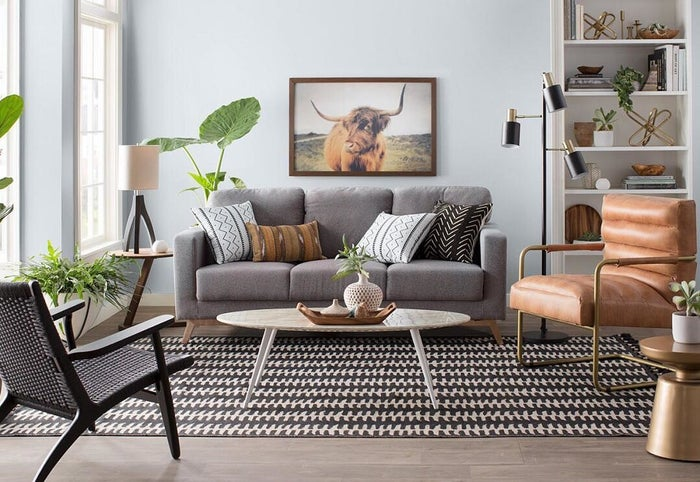 Mid-century modern style is *especially* good for this silhouette.Get a similar coffee table from AllModern for $155.99 (down from $387.99).