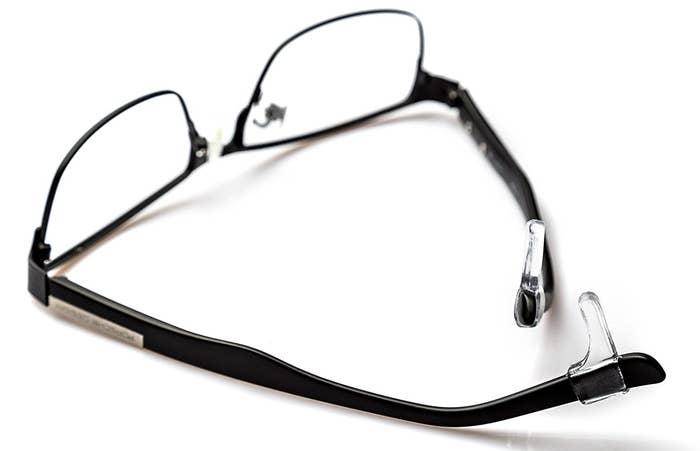 08130e0be33 These transparent anti-slip sleeves to stop your glasses from falling down  your nose.