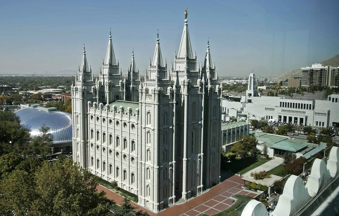 The LDS church's temple in Salt Lake City.