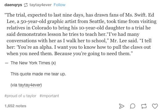 Taylor Swift Broke Her Tumblr Hiatus To Like This Post About