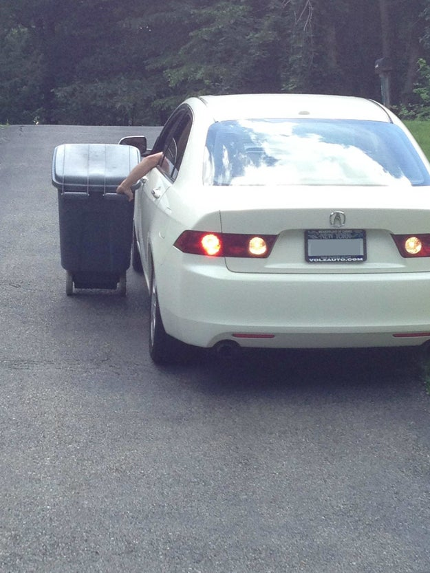 Did you once drive your trash can to the end of the driveway for pickup?*