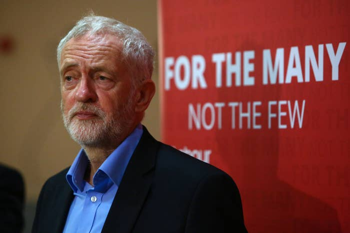 Jeremy Corbyn addresses a Labour meeting in Bristol earlier this week.