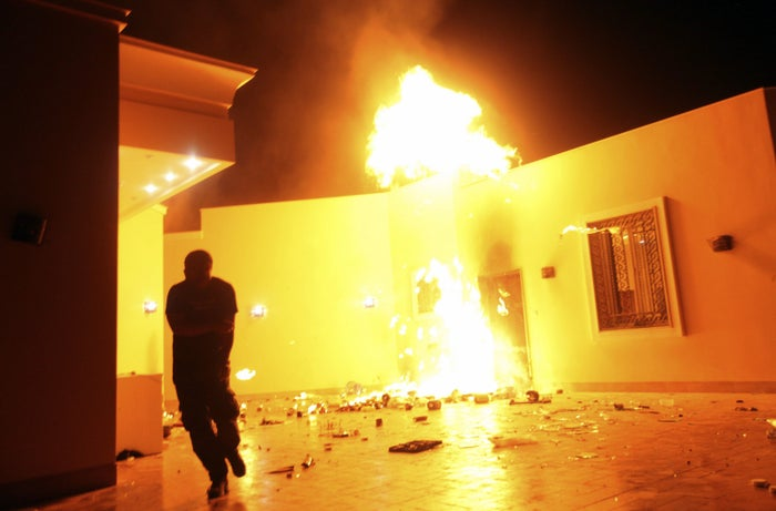 The US Consulate in Benghazi, Libya, on Sept. 11, 2012.