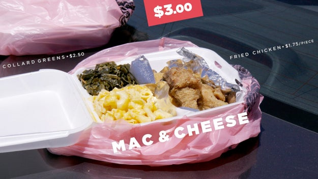 The first Mac & Cheese we tried was priced at $3.00.