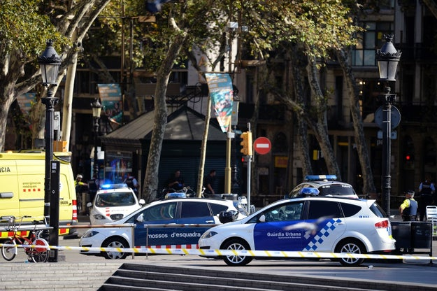 A white van drove into a crowd of people in a terror attack on Las Ramblas, the main tourist and commercial street in Barcelona, killing at least one person and injuring many others.