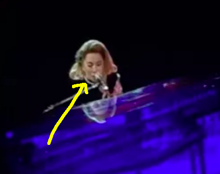 "Well, on Tuesday, Gaga wore pearls during her performance of ""Edge of Glory."""
