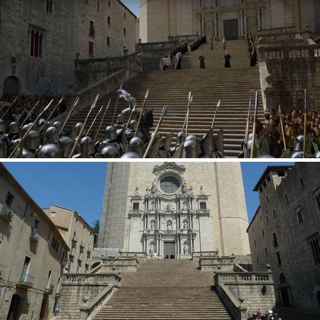 Girona está a un poco más de una hora en coche al noreste de Barcelona, pero algo me dice que valdría la pena una caminata para echar un vistazo al sitio de uno de los momentos más EXPLOSIVOS en la historia de Game of Thrones.