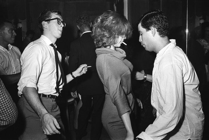 Partygoers at the Stork Club in New York City dance the night away in Oct. 1961.