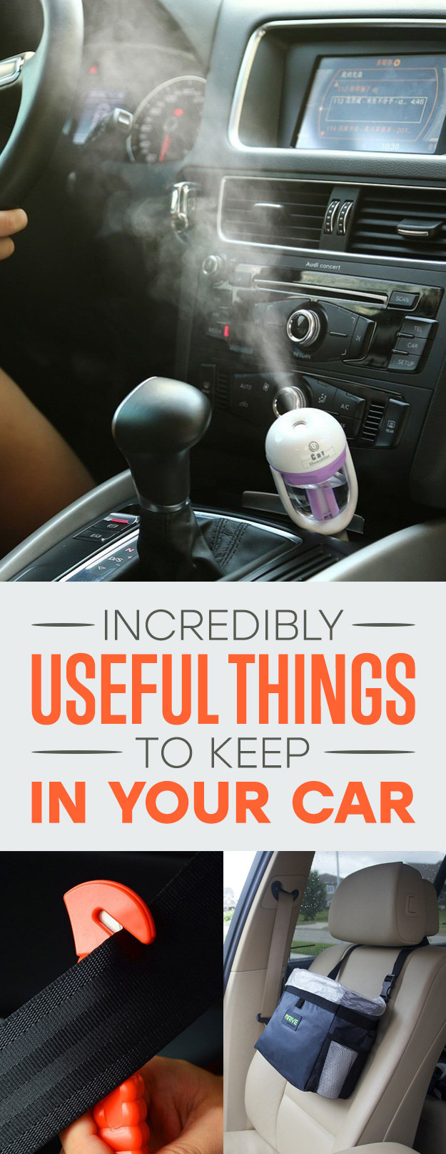 17 amazingly useful things to keep in your car at all times. Black Bedroom Furniture Sets. Home Design Ideas