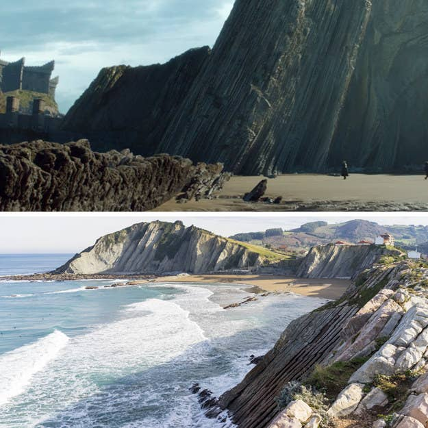Ironically, the location where they shot Dragonstone beach is about 60 miles east of where that magnificent walkway leading up to Dragonstone castle is in real life. And you won't find a cave with ancient White Walker drawings in it there, either — but you can still recreate some weird, incestuous sexual tension!