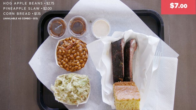The first BBQ joint was Bigmista's Barbecue & Sammich Shop in Long Beach where they tried the BBQ platter priced at $7.00. Talk about a good deal!