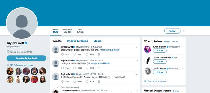 All Of Taylor Swift's Social Media Accounts Are Gone And People Are