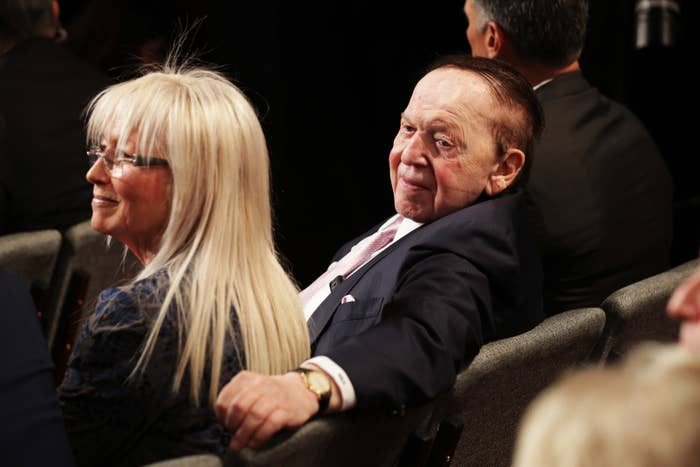 Sheldon Adelson attends the third US presidential debate on October 19, 2016.