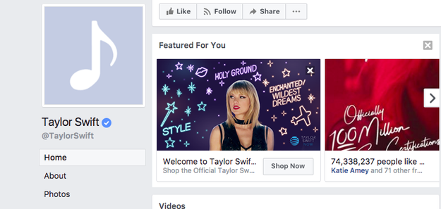 And this is her Facebook: