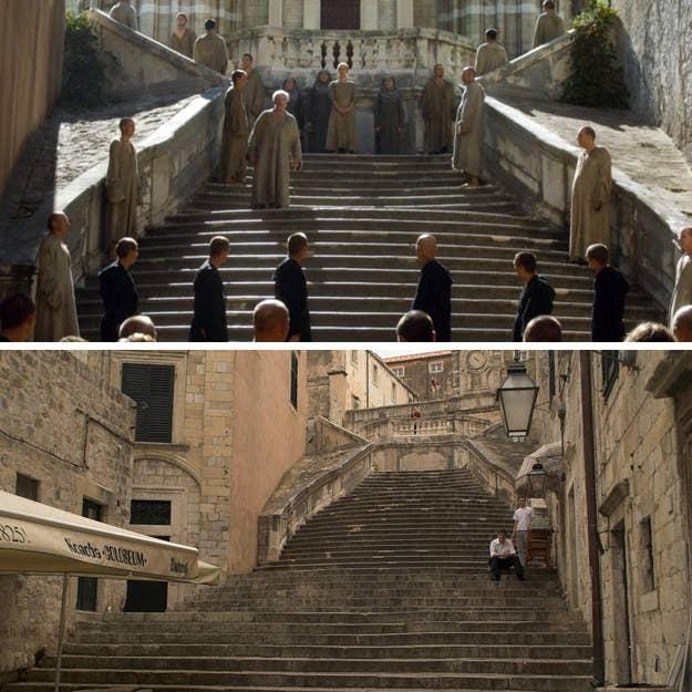 Situado en el casco antiguo de Dubrovnik, estos hermosas escaleras fueron otrora la ubicación de un hecho no tan encantado... es decir, la icónica caminata de Cersei de la vergüenza. Sólo asegúrate de traer tu propia Campana de la Vergüenza antes de recrearla tú mismo (¿vistiendo toda tu ropa, con algo de suerte?).