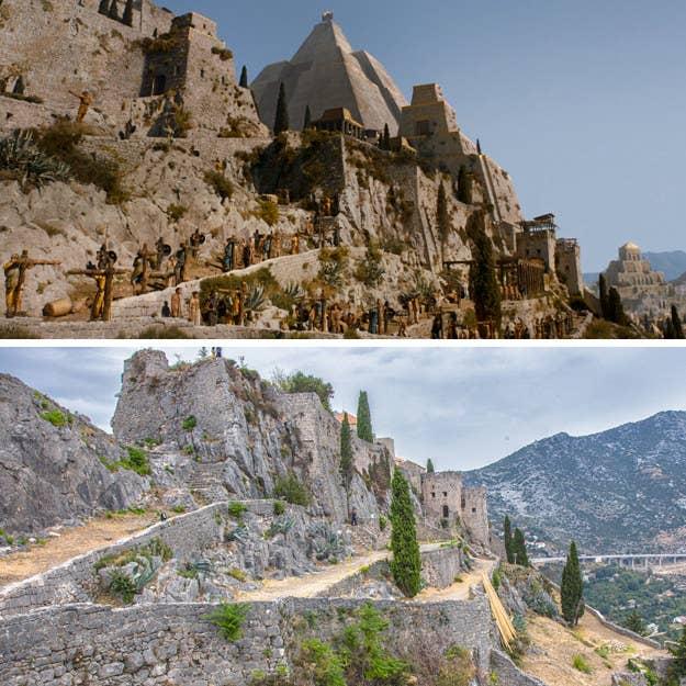 Esta fortaleza medieval se encuentra en un pequeño pueblo de ladera y está construida en un paso de montaña rocoso. ¡Y aparentemente también puedes ver el Mar Adriático desde allí! Sin embargo, los aficionados de Game of Thrones también lo recordarán como el lugar donde Daenerys crucificó a los Grandes Maestros antes de gobernar en su lugar como la cabrona que es.