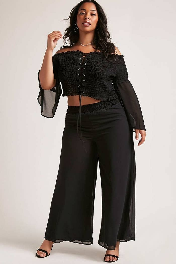 7b1917c723546 A crop top and pants set you have just fallen in love with. You re welcome.  I accept your gratitude.