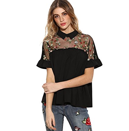 f935417763e04c An airy blouse with pretty details in both the front and back.