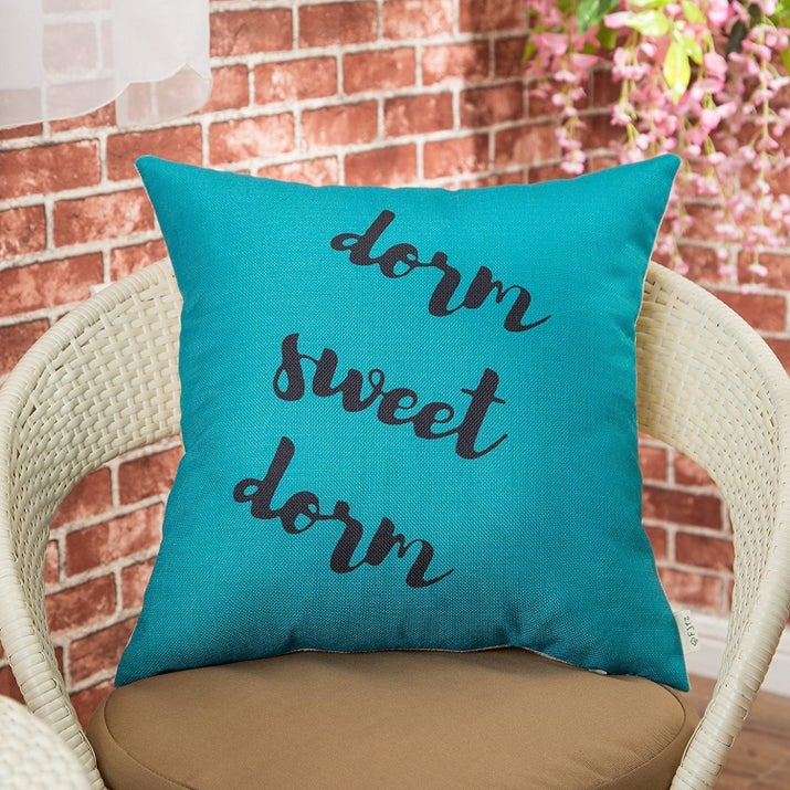 A Throw Pillow Case To Help Make Your Dorm Room Feel A Little More Homey