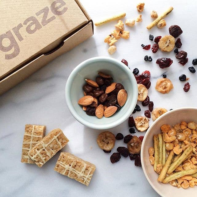 What you'll get: A box of eight delicious snacks delivered either every week or every other week, that's up to you.Get it from Graze: $13.99/box, with half off your first box.