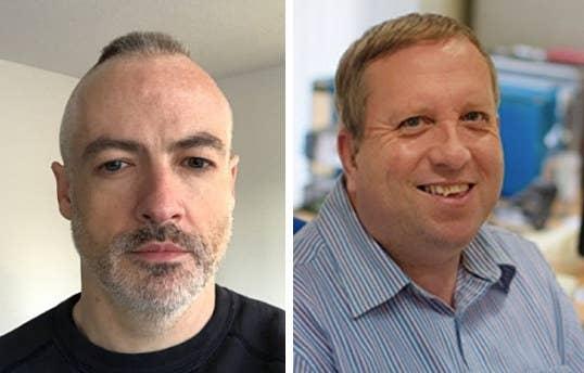 Wyndham Lathem (left) and Andrew Warren