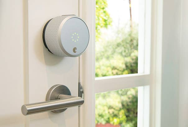 """Promising review: """"Just installed the August smart lock and am very pleased with the result. Already thinking of purchasing another one to attach to a second door."""" —WilliamPrice: $239.95 (available in dark gray or silver).You can read our review of it (by yours truly) here."""