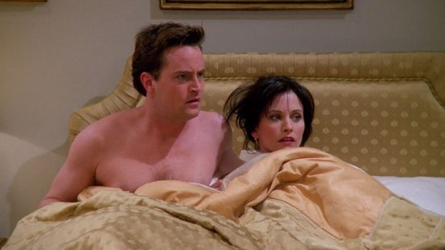 """I'll start by posing a question to you: When does Chandler FIRST say """"I love you"""" to Monica on Friends?"""