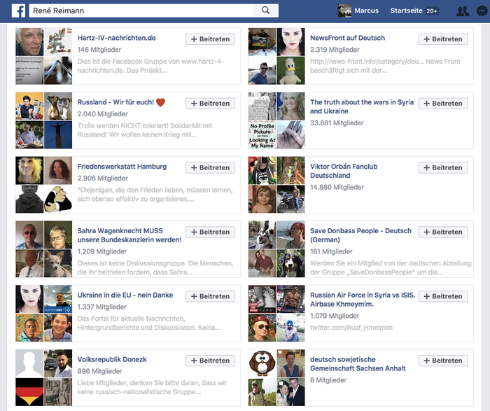 Reimann has liked Facebook pages that support Putin, Hungarian leader Victor Orban, and the idea of the Ukraine belonging to Russia.
