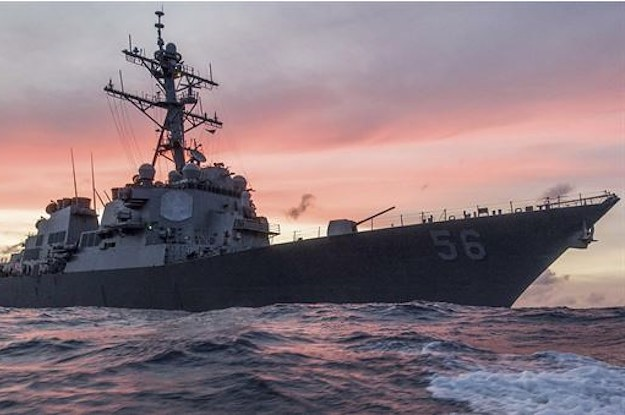 Ten US Sailors Are Missing After A Navy Destroyer Collided With A Merchant Ship