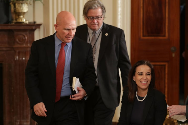 Bannon, like Trump prior to his election, believed that efforts should be diverted from Afghanistan and instead focused on US domestic concerns. (A proposal from Bannon to replace US military forces with private security forces reportedly went nowhere.)National security adviser H.R. McMaster and Defense Secretary James Mattis in turn argued in favor of meeting the demands of the generals on the ground. The final decision on the new strategy came on Friday after a day of meetings at Camp David; Bannon, who by the end of the day would be out of his job, did not attend.