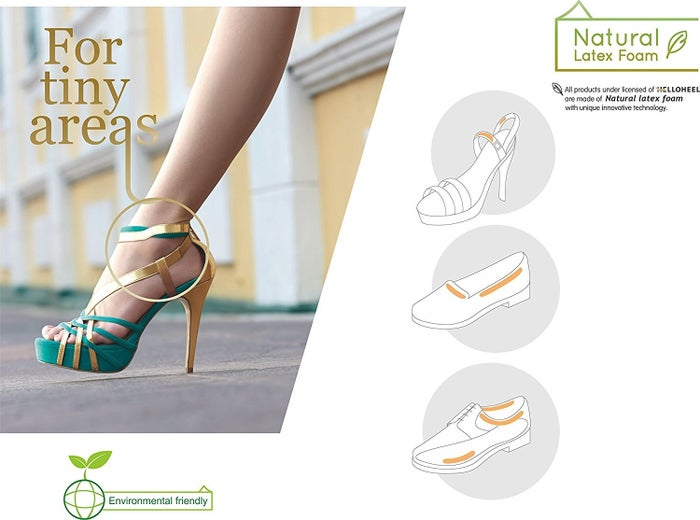 """Promising Review: """"Worked GREAT on the skinny straps of my heels. The straps were slipping around and this did the trick. They were very comfortable and gave just enough padding to keep the straps in place. They were extremely discreet, no one could see them, and I completely forgot they were even there."""" —ChrysGet two pairs from Amazon for $7."""