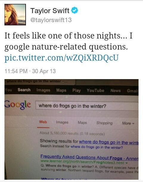 That time she googled frogs.