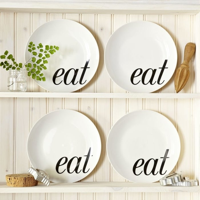 """Promising review: """"Love these plates. I get so many compliments from guests."""" —TerriBethPrice: $16.99 for set of four (on sale from $23.45)"""