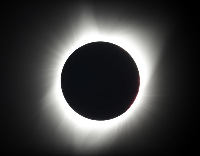 The total eclipse near Redmond, Oregon.