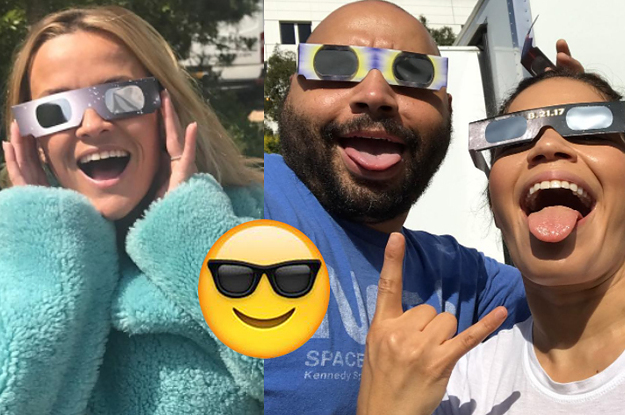 Here's How 19 Celebrities Enjoyed The Eclipse Today